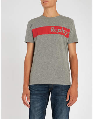 Replay Logo-print cotton-jersey T-shirt