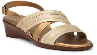 Italian Shoemakers Maxi Wedge Sandal - Wide Width Available