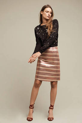 Sunday In Brooklyn Sequin-Striped Pencil Skirt $158 thestylecure.com