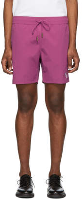 Leon Aime Dore Purple Monogram Shorts
