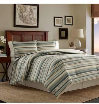 Tommy Bahama Stripe Canvas Comforter, Sham & Bed Skirt Set