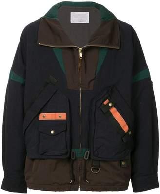 Kolor zipped colour-block jacket