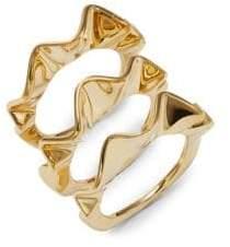 Kate Spade Three-Piece Frill Ring Set