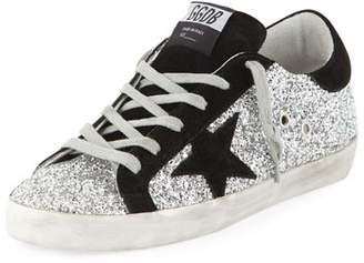 Golden Goose Superstar Glittered Sneakers