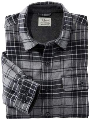 L.L. Bean L.L.Bean Men's Fleece-Lined Flannel Shirt, Traditional Fit