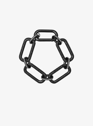 Michael Kors Black-Tone Chain-Link Bracelet