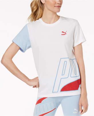 Puma Loud Cotton Colorblocked T-Shirt