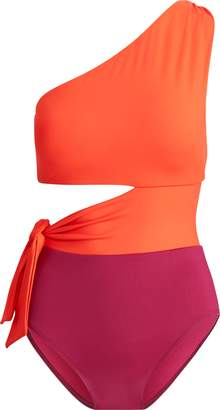 Ralph Lauren Shaping One-Shoulder Swimsuit