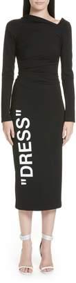 One-Shoulder Stretch Dress
