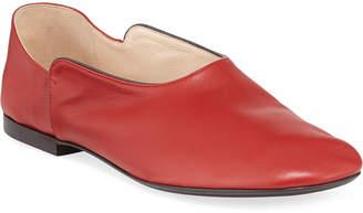 The Row Boheme Smooth Leather Ballerina Slippers