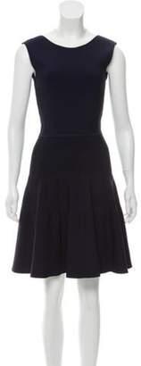 Issa Rib Knit Mini Dress Navy Rib Knit Mini Dress