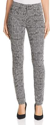 Paige Hoxton Ultra Skinny Jeans in Cream/Black Glen Check