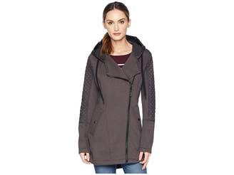 MICHAEL Michael Kors Zip Front/Zip Back Hooded Knit Coat A320673GZ