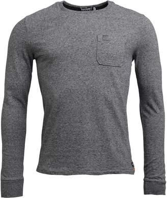 Superdry Mens Surplus Goods Long Sleeve Pocket T-Shirt Queens Grey Grit