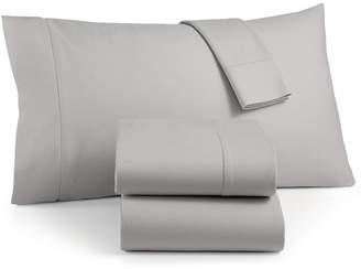 Martha Stewart Collection Luxury 100% Cotton Flannel 4-Pc. Queen Sheet Set, Created for Macy's