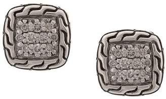 John Hardy Classic Chain diamond studs
