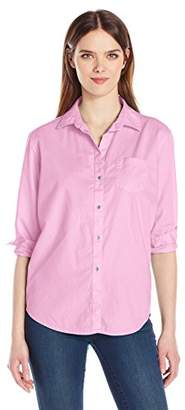 Calvin Klein Jeans Women's Easy Boyfriend Fit Button Down Shirt