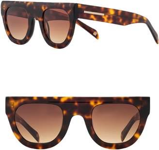 Jax Carolina Lemke 47mm Flat Top Sunglasses