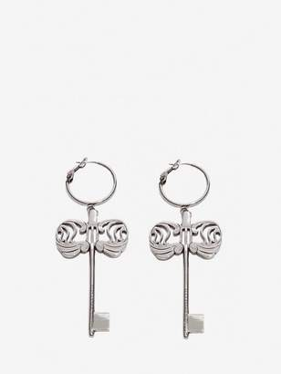 Alexander McQueen Key Charm Earrings