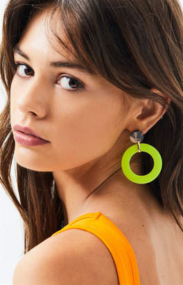 La Hearts Neon Tortoiseshell Earrings