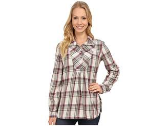 Royal Robbins Sugar Pine Plaid Long Sleeve Tunic Women's Blouse