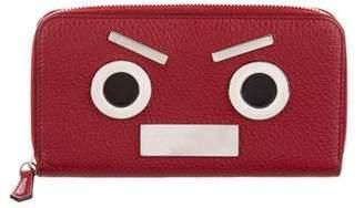 Fendi Leather Monster Eyes Wallet