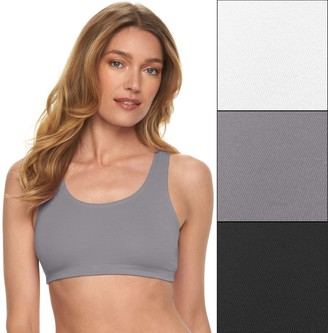 Fruit of the Loom 3-pack Low Impact Sports Bra 3DSCSSB