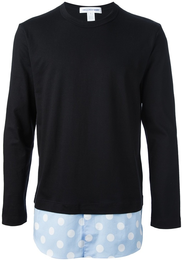 Comme des Garcons long sleeved crew neck t-shirt