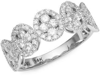 Saks Fifth Avenue Women's 14K White Gold & Diamond Oval Ring