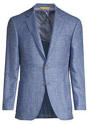 Canali Men's Denim Effect Sportcoat