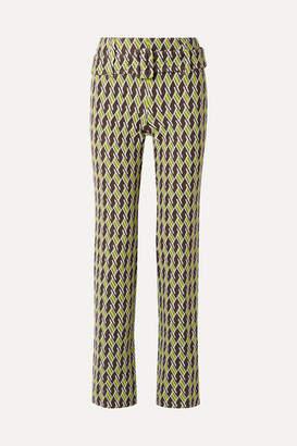 Prada Jacquard-knit Straight-leg Pants - Lime green