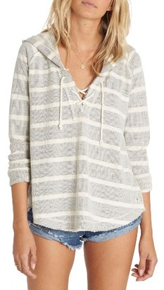 Women's Billabong Along Side Stripe Hoodie $54.95 thestylecure.com
