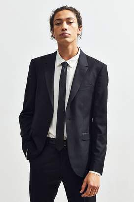 Urban Outfitters Black Skinny Fit Single Breasted Suit Blazer