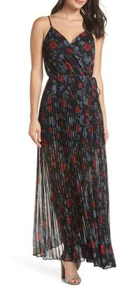 Ali & Jay Roses Are Red Floral Pleated Maxi Dress
