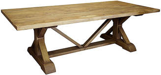 "CFC 108"" Trestle Dining Table - Medium Brown Wax"