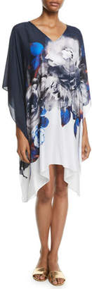 Jets Picturesque Short Floral Coverup Kaftan