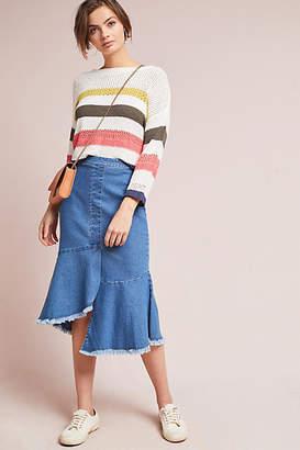 Yumi London Flounced Denim Pencil Skirt