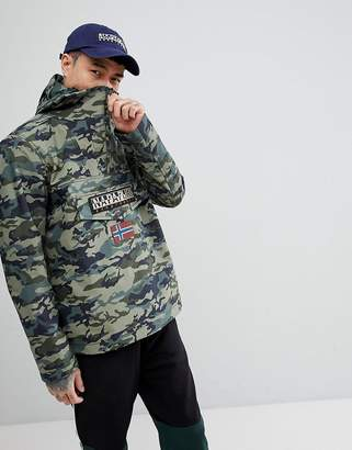 Napapijri Rainforest Jacket In Camo Print