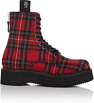R 13 Women's Single Stack Canvas Combat Boots