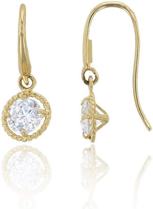 FINE JEWELRY 3/4 CT. T.W. White Cubic Zirconia 14K Gold Round Drop Earrings