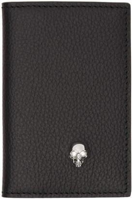 Alexander McQueen Black Skull Bifold Card Holder
