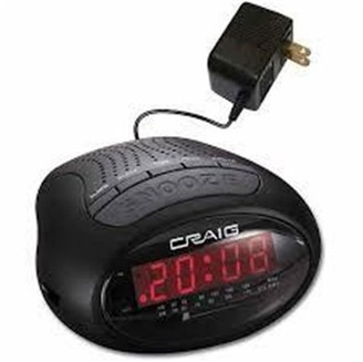 Craig CR45329B Dual Alarm Clock Digital PLL AM/FM Radio