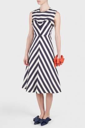 DELPOZO Striped Dress