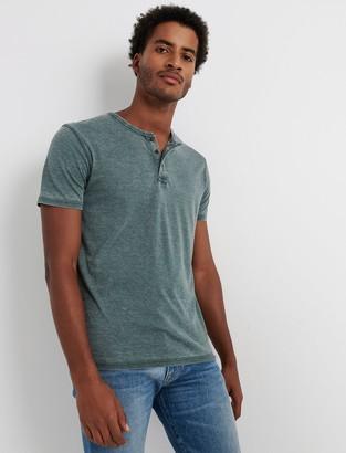 Lucky Brand Venice Burnout Henley Shirt