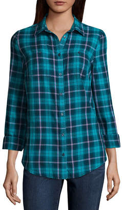 ST. JOHN'S BAY Long Sleeve Camp Shirt