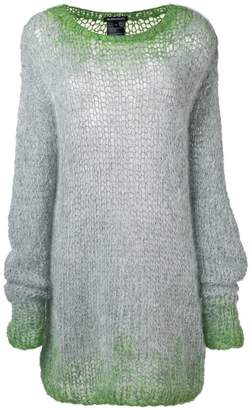 Ann Demeulemeester oversized net knit sweater