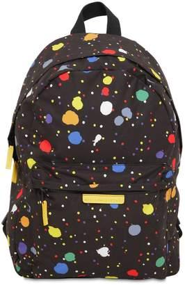 Stella McCartney Sprayed Print Nylon Backpack