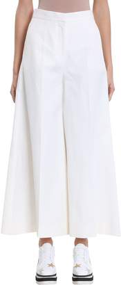 Stella McCartney Wide Leg Cropped Trousers