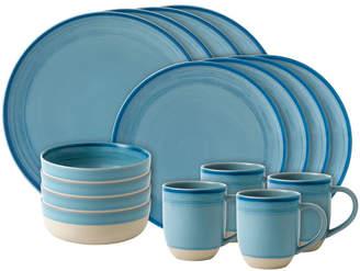 ED Ellen Degeneres By Royal Doulton 16Pc Ed Brushed Porcelain Dinnerware Set