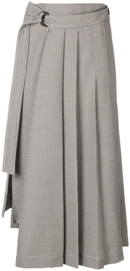 dogtooth suiting skirt